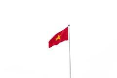 Σημαία του Βιετνάμ που απομονώνεται στο άσπρο υπόβαθρο Στοκ Εικόνα