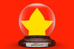 Σημαία του Βιετνάμ στη σφαίρα χιονιού στοκ φωτογραφία