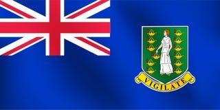 Σημαία του βρετανικού νησιού της Virgin - διανυσματική απεικόνιση Στοκ εικόνες με δικαίωμα ελεύθερης χρήσης