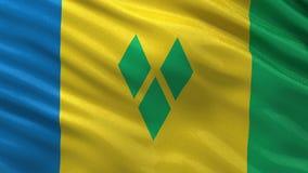 Σημαία του βρόχου του Άγιου Βικεντίου και Γρεναδίνες απεικόνιση αποθεμάτων