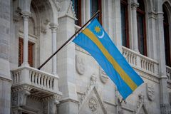Σημαία του εδάφους Szekely του ουγγρικού Κοινοβουλίου Στοκ εικόνες με δικαίωμα ελεύθερης χρήσης