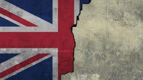 Σημαία του Ηνωμένου Βασιλείου χρωματίζω στον τοίχο στοκ φωτογραφία με δικαίωμα ελεύθερης χρήσης