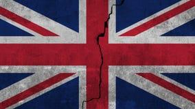 Σημαία του Ηνωμένου Βασιλείου χρωματίζω στον τοίχο στοκ φωτογραφία