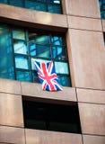 Σημαία του Ηνωμένου Βασιλείου - το Ευρωπαϊκό Κοινοβούλιο Στοκ φωτογραφίες με δικαίωμα ελεύθερης χρήσης