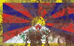 Σημαία του Θιβέτ grunge, εξαρτώμενη σημαία εδαφών Στοκ φωτογραφία με δικαίωμα ελεύθερης χρήσης
