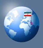Σημαία του Ιράν στη γη Στοκ Εικόνες