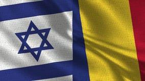 Σημαία του Ισραήλ και της Ρουμανίας - δύο σημαίες από κοινού στοκ φωτογραφία