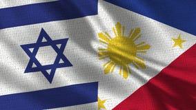 Σημαία του Ισραήλ και των Φιλιππινών - δύο σημαίες από κοινού στοκ φωτογραφίες με δικαίωμα ελεύθερης χρήσης