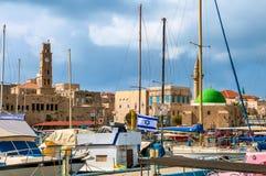 Σημαία του Ισραήλ στα πλαίσια της ανάπτυξης του παλαιού στρέμματος Στοκ εικόνα με δικαίωμα ελεύθερης χρήσης