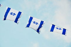 Σημαία του Ισραήλ στη ημέρα της ανεξαρτησίας Στοκ φωτογραφία με δικαίωμα ελεύθερης χρήσης