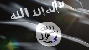 Σημαία του ισλαμικού κράτους ελεύθερη απεικόνιση δικαιώματος