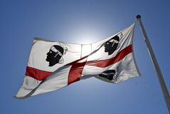 σημαία του Κάλιαρι Στοκ φωτογραφία με δικαίωμα ελεύθερης χρήσης