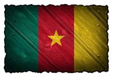 Σημαία του Καμερούν Στοκ Φωτογραφία