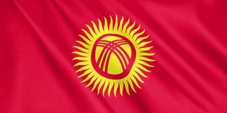 Σημαία του Κιργιστάν που κυματίζει με τον αέρα ελεύθερη απεικόνιση δικαιώματος