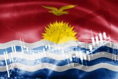 Σημαία του Κιριμπάτι, χρηματιστήριο, οικονομία ανταλλαγής και εμπόριο, παραγωγή πετρελαίου, σκάφος εμπορευματοκιβωτίων στην επιχε ελεύθερη απεικόνιση δικαιώματος