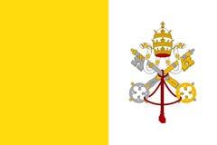 Σημαία του κράτους πόλεων του Βατικανού Στοκ Εικόνες