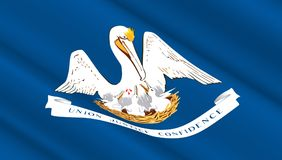 Σημαία του κράτους της Λουιζιάνας Στοκ Εικόνα