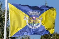 Σημαία του Λάγκος στην Πορτογαλία Στοκ εικόνα με δικαίωμα ελεύθερης χρήσης