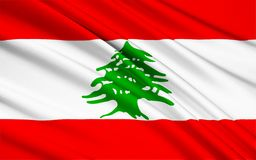 Σημαία του Λιβάνου διανυσματική απεικόνιση