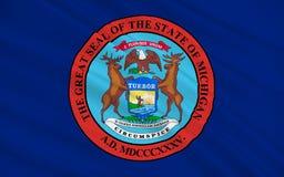 Σημαία του Μίτσιγκαν, ΗΠΑ ελεύθερη απεικόνιση δικαιώματος