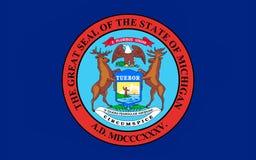 Σημαία του Μίτσιγκαν, ΗΠΑ στοκ φωτογραφίες