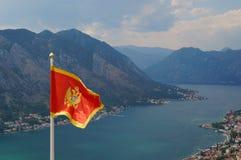 Σημαία του Μαυροβουνίου Στοκ Εικόνα