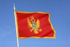 Σημαία του Μαυροβουνίου - της Ευρώπης Στοκ Φωτογραφίες