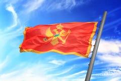 Σημαία του Μαυροβουνίου Στοκ Εικόνες