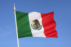 Σημαία του Μεξικού Στοκ εικόνα με δικαίωμα ελεύθερης χρήσης