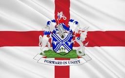 Σημαία του μητροπολιτικού δήμου Bury της πόλης, Αγγλία διανυσματική απεικόνιση
