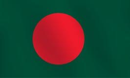 Σημαία του Μπανγκλαντές - διανυσματική απεικόνιση Στοκ Φωτογραφία