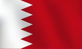 Σημαία του Μπαχρέιν - διανυσματική απεικόνιση Στοκ φωτογραφία με δικαίωμα ελεύθερης χρήσης