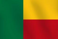 Σημαία του Μπενίν - διανυσματική απεικόνιση Στοκ φωτογραφίες με δικαίωμα ελεύθερης χρήσης