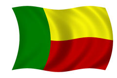 σημαία του Μπενίν Στοκ φωτογραφία με δικαίωμα ελεύθερης χρήσης