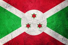 Σημαία του Μπουρούντι Grunge Σημαία του Μπουρούντι με τη σύσταση grunge Στοκ εικόνα με δικαίωμα ελεύθερης χρήσης