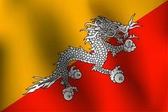 Σημαία του Μπουτάν - διανυσματική απεικόνιση Στοκ φωτογραφία με δικαίωμα ελεύθερης χρήσης