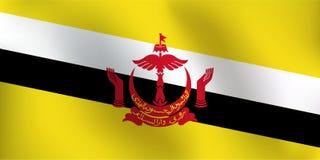 Σημαία του Μπρουνέι - διανυσματική απεικόνιση Στοκ εικόνα με δικαίωμα ελεύθερης χρήσης