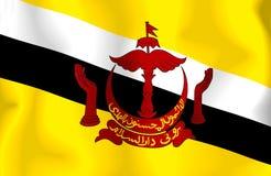 σημαία του Μπρουνέι Στοκ φωτογραφία με δικαίωμα ελεύθερης χρήσης