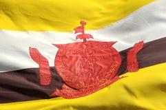 σημαία του Μπρουνέι Στοκ Εικόνες