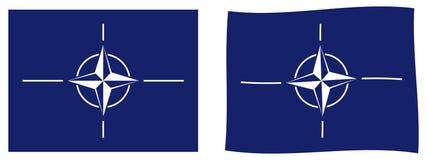 Σημαία του ΝΑΤΟ Οργάνωση της Συνθήκης του Βορείου Ατλαντικού Απλός και sligh ελεύθερη απεικόνιση δικαιώματος