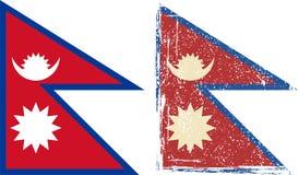 Σημαία του Νεπάλ grunge επίσης corel σύρετε το διάνυσμα απεικόνισης ελεύθερη απεικόνιση δικαιώματος