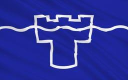 Σημαία του νομού Τάιν και ένδυσης, Αγγλία διανυσματική απεικόνιση