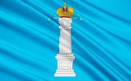 Σημαία του Ουλιάνοφσκ Oblast, Ρωσική Ομοσπονδία διανυσματική απεικόνιση