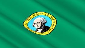 Σημαία του πολιτεία της Washington Στοκ Φωτογραφία
