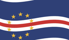 Σημαία του Πράσινου Ακρωτηρίου - Δημοκρατία του Πράσινου Ακρωτηρίου Στοκ εικόνα με δικαίωμα ελεύθερης χρήσης