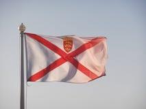 Σημαία του Τζέρσεϋ Στοκ Φωτογραφίες