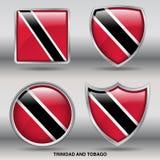 Σημαία του Τρινιδάδ και Τομπάγκο στη συλλογή 4 μορφών με το ψαλίδισμα της πορείας Στοκ φωτογραφία με δικαίωμα ελεύθερης χρήσης