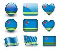 σημαία του Aruba Στοκ φωτογραφίες με δικαίωμα ελεύθερης χρήσης
