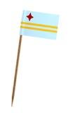 σημαία του Aruba Στοκ φωτογραφία με δικαίωμα ελεύθερης χρήσης
