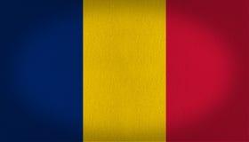 Σημαία του Chad Στοκ φωτογραφία με δικαίωμα ελεύθερης χρήσης